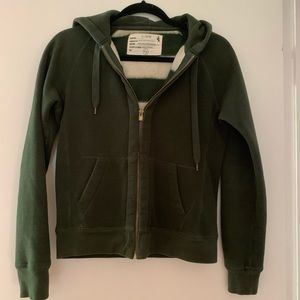 J Crew Hoodie with teddy bear fleece lining, S